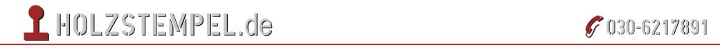 Holzstempel.de Stempelmacher Meisterbetrieb online kaufen