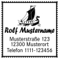 Mobile Preview: Motivstempel Wikingerschiff