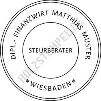 STEUERBERATER Siegel - S2045